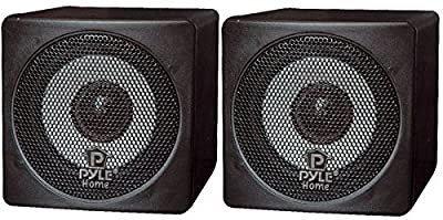 Pyle Home PCB3BK 3-Inch 100-Watt Mini Cube Bookshelf Speakers