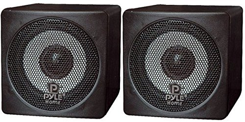 Pyle Home PCB3BK 3-Inch 100-Watt Mini Cube Bookshelf Speakers - Pair (Black)...