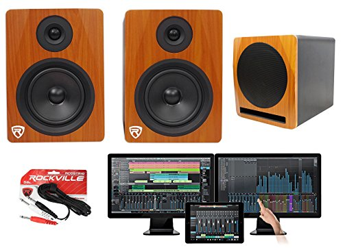 Presonus Studio One 3.2 Professional Audio Recording Software+Monitors+Subwoofer