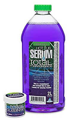 Hot Tub Serum Maintenance & Conditioner Watercare Kit – Includes 2 oz Cleanse