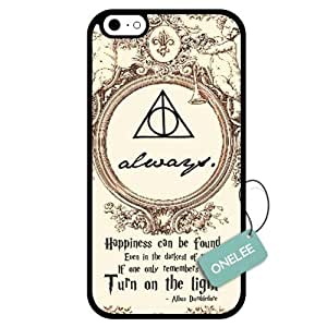 Onelee(TM) - Customized Harry Potter Deathly Hallows Map TPU Case Cover for Apple iPhone 6 - Black 06
