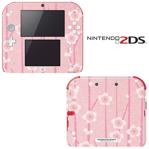 pink-flower-blossom-decorative-video-game-decal-cover-skin-protector-for-nintendo-2ds