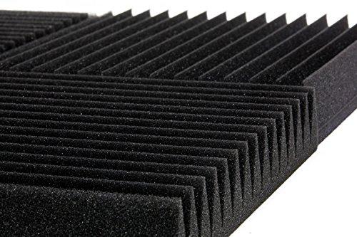 "6 Pack 12"" X 12"" X 2"" acoustic sound foam studio panels 15 sharp wedges - Remove Noise & Enhance Sound Quality by-beefoam - Image 1"