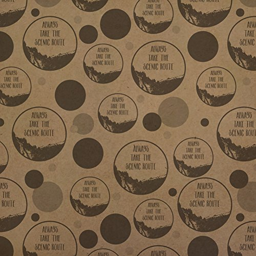 Always Take the Scenic Route Hiking Travel Premium Kraft Gift Wrap Wrapping Paper Roll by Graphics and More (Image #3)