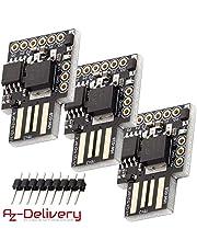 AZDelivery ⭐⭐⭐⭐⭐ Digispark Rev. 3 Kick Starter con USB per Arduino, 100% kompatibles entwiklung Development Board con ATtiny85 3 x Digispark