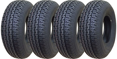 Set of 4 New Premium Trailer Tires ST 225/75R15 10PR Load Range E - 11017 …