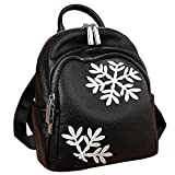 HEYFAIR Women Cute Backpack Purse Casual School College Daypack Bag Snow Style
