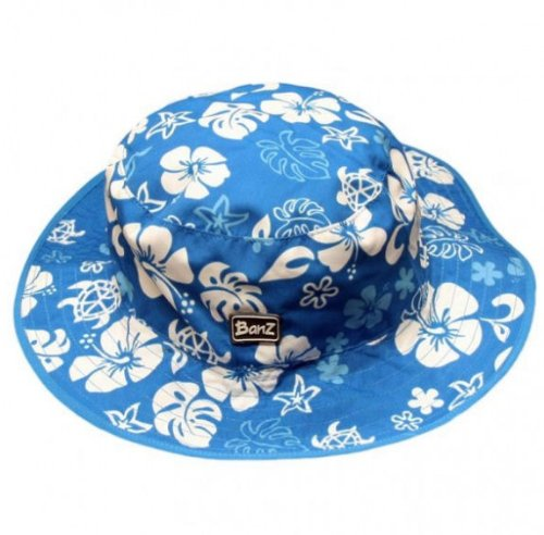 Baby Banz Reversible Sunhat - Blue & White - One Size