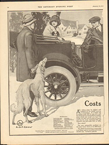 - 1914 Willys Overland Motor Car Toledo OH Auto Ad Prophylactic Tooth Brush