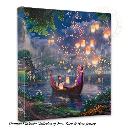 Thomas Kinkade Tangled - pretty Disney wall art