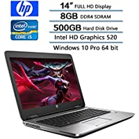 2018 HP Flagship PC Business High Performance Laptop, 14 FHD (1920 X 1080) Display, Intel Core i5-6300U Dual-Core 2.4GHz, 8GB DDR4 SDRAM, 500GB 7200 RMP HDD, Intel HD Graphics 520, Win 10 Pro