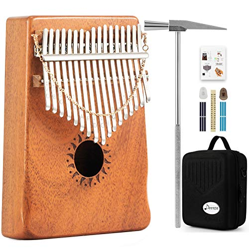 Donner 17 Key Kalimba Thumb Piano Solid Finger Piano Mahogany Body DKL-17 With Hard Case
