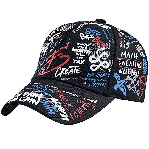Glamorstar Graffiti Hat Classic Unisex Baseball Cap Adjustable Cotton Ball Hat Dad Hat Trucker Hats