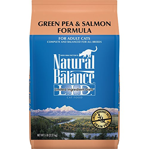 Natural Balance L.I.D. Limited Ingredient Diets Dry Cat Food, Grain Free, Green Pea & Salmon Formula, 5-Pound