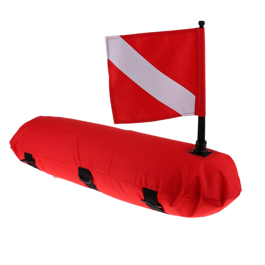 SM SunniMix Scuba Diving Inflatable Surface Marker Buoy Float with Dive Flag Safety Gear Equipment by SM SunniMix