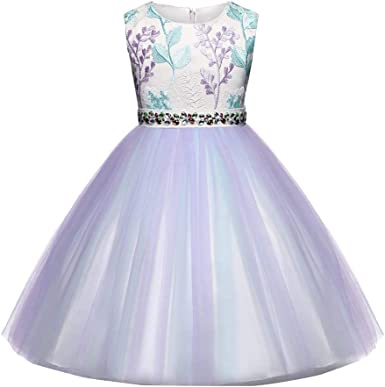 Baby Toddler Girls Wedding Formal Dress Gown 2-7 Years Old Kids Children Star Print Lace Bow Princess Dresses