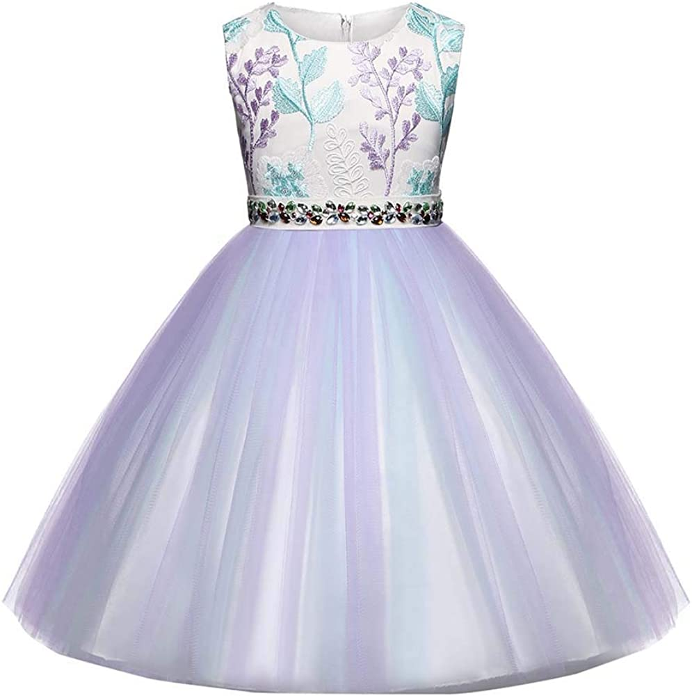 Amazon.com: Vestido de princesa para niñas de 1 a 6 años sin ...