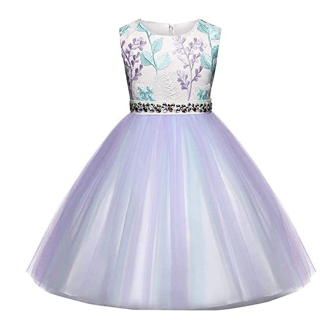 f5b695fd9bb Baby Toddler Girls Wedding Princess Dress Clothes 1-6 Years Old Kids Child  Sleeveless Lace