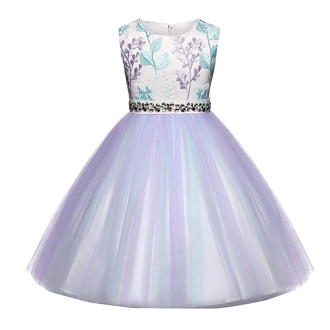 2dba1d1f4 Amazon.com  Baby Toddler Girls Wedding Princess Dress Clothes 1-6 ...