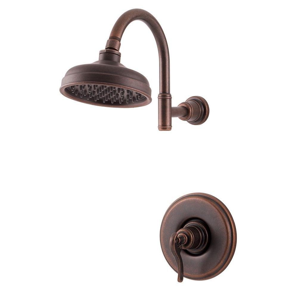 Pfister R89 7YPU R89 7YPU Ashfield 1 Handle Shower Trim, Rustic Bronze    Shower Installation Kits   Amazon.com