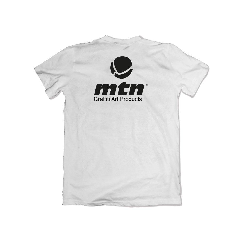 MTN Basic Logo Back Tee White