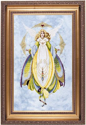 Victorian Lace Patterns - Lavender & Lace - Angel of Healing - Victorian Counted Cross Stitch Pattern (L&L 57)