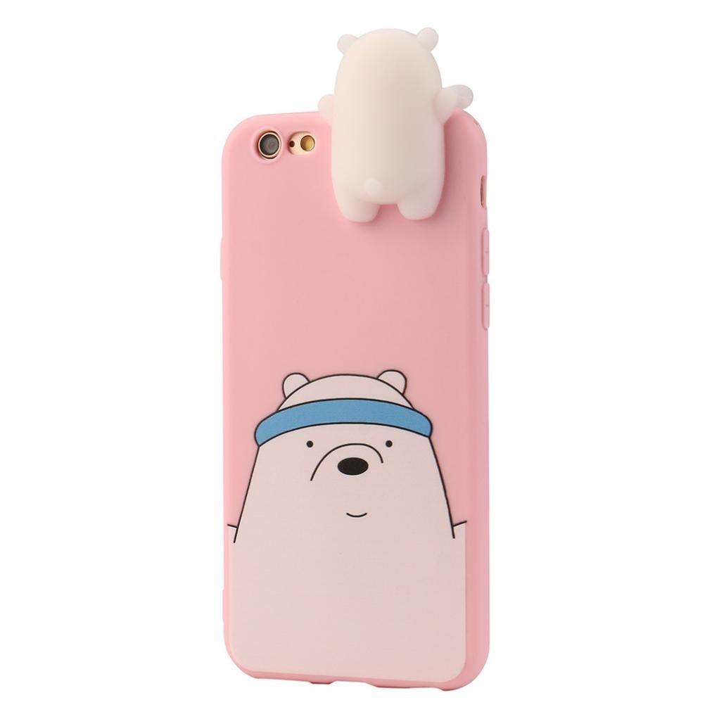 Hunpta 3D Cartoon animali cute Bare Bears custodia morbida in silicone per iPhone 6//6S Plus 5.5 Blue iPhone 6//6S Plus 5.5/case
