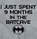 Brisco Brands 9 Months Batcave Funny Comic Book Hero Baby Infant Toddler T Shirt