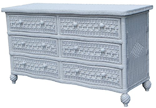 Spice Islands Classic 6 Drawer Dresser, Null, White