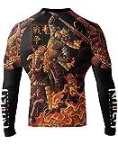 Raven Fightwear Men's Horsemen of The Apocalypse War Samurai Rash Guard Large Black