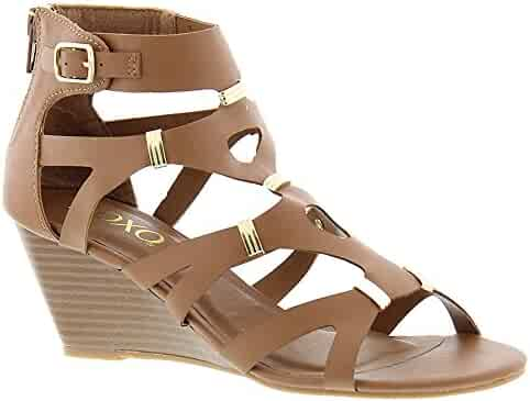 35ffdd5f8 XOXO Womens Sarabeth Open Toe Casual Ankle Strap Sandals