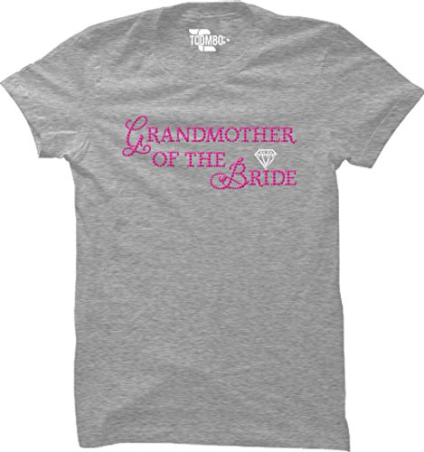 Grandmother of The Bride Women's T-Shirt (Light Gray, XX-Large)
