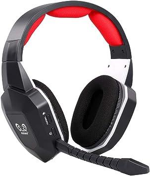 Docooler HUHD Auriculares Inalámbricos 2.4Ghz Cascos Estéreo óptico del Juego de la Cancelación de Ruido 7.1 Sonido Batería Extraíble de Micrófono Recargable para Mac, para PS3 / 4 Xbox One/360 TV PC: