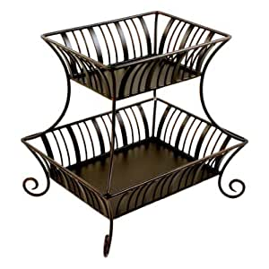 com: Mesa Home Products Delaware 2-Tier Basket without Handle by Mesa