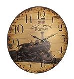 Things2Die4 23 Inch Diameter Great Pacific Railroad Wall Clock Review