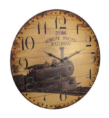 Things2Die4 23 Inch Diameter Great Pacific Railroad Wall Clock