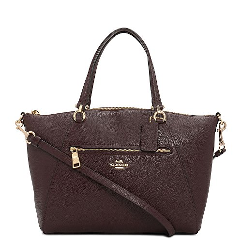 Satchel Oxblood Prairie Bag Li Coach Women's 7Eqfwf