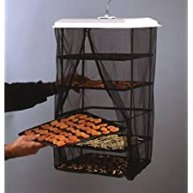 Food Dehydrator - Hanging Food Pantrie Dehydration System - Non-Electric, Environmentally Friendly, Natural Way To Dry Foods, Fruit, Vegetables, Jerky & More. 5-Tray Dehydrator