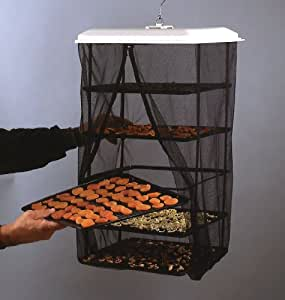 Solar Food Dehydrator - Hanging Food Pantrie Dehydration System - Non-Electric, Environmentally Friendly, Natural Way To Dry Foods, Fruit, Vegetables, Jerky & More. 5-Tray Dryer