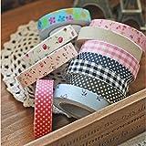 [Free Shipping] Fabric Washi Tape Roll Decorative Sticky Cotton Adhesive Sticker // Tela washi rollo de cinta adhesiva de artesanía decorativa de algodón pegajoso