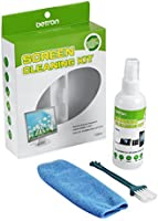 Betron Screen Cleaner 100ml Cleaning Brush and Fine Microfibre Towel for LCD, LED, TFT, HD TV's, Plasma,Laptops, touchscreen, smartphones, TV Screens, Tablets, Keyboards, E-readers and more