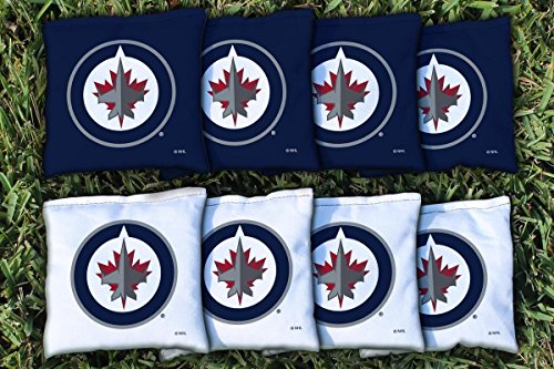 (Victory Tailgate 8 Winnipeg Jets NHL Cornhole Game Bag Set (8 Bags Included, Corn-Filled))