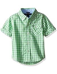 Baby Boys' Baxter Short Sleeve Yarn Dyed Poplin Woven Shirt