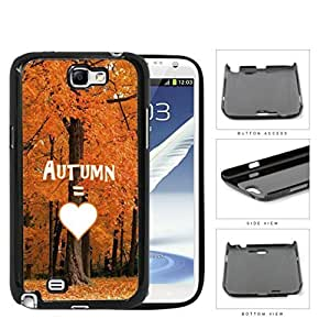 Autumn Equals Love With Beautiful Orange Tree Forest Samsung Galaxy Note II 2 N7100 Hard Snap on Plastic Cell Phone Cover hjbrhga1544