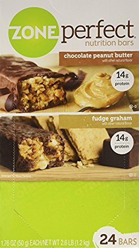 ZonePerfect Nutrition Bars Chocolate Peanut Butter / Fudge Graham 14g Protein 24 Bars 1.76oz (14g Protein)
