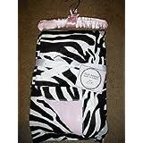 SL Baby Collection Pink Zebra Print Fleece Plush Animal Baby Blanket 30x40