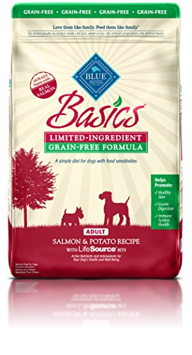 BLUE Basics Limited Ingredient Diet Adult Grain Free Salmon & Potato Dry Dog Food 11-lb