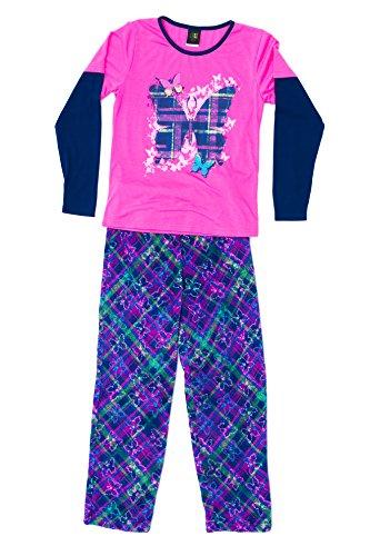 Butterfly Pajamas Sleepwear (44643-10116-10/12 Just Love Two Piece Girls Pajamas Set, Plaid Butterfly )