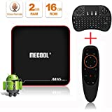 Android TV Box,AMDISI Android 7.1.2 TV Box 2GB RAM 16GB ROM HD 4K Internet Media Players with Voice Remote Control & Mini Wireless Keyboard