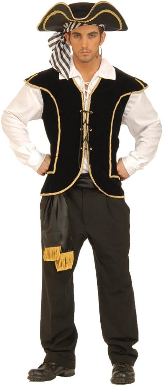 Black Pirate Fancy Dress Waistcoat
